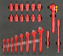 VDE tool set 2, spanner set (23 parts), inlay size 500x450 mm