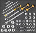 "Automotive tool set 4, 1/2"" socket spanners (54 parts), inlay size 500x450mm"