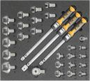 Refrigeration tool set 5, torque spanner set (29 parts) inlay size 500x450mm